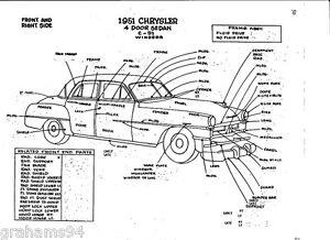 1951 Chrysler C-51 Windsor NOS Body Panel Exterior Part