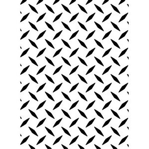 Darice Embossing Folder DIAMOND PLATE Background NEW! Card