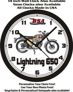 1965 BSA LIGHTNING 650 MOTORCYCLE WALL CLOCK-FREE USA SHIP
