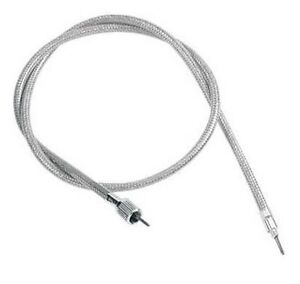 Front Wheel Speedometer Cable Stainless Steel Harley 1980