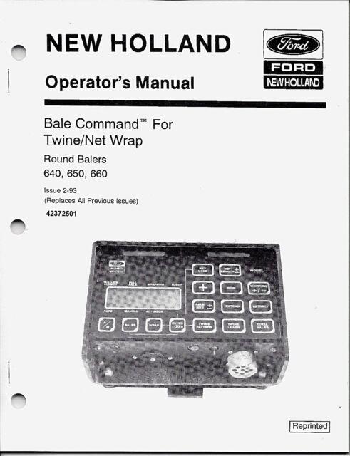 Holland 640 650 660 Round Baler Operator Manual 42064033
