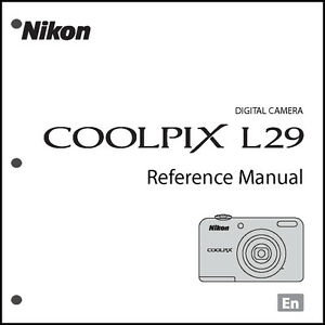 Nikon CoolPix L29 Digital Camera User Guide Instruction