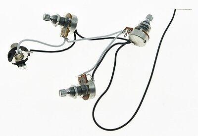 Bass Pre-wired Wiring Harness Alpha 250K w/Mini Pots 2V1T