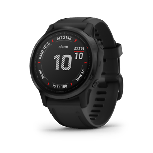 Garmin Fenix 6S Multisport Black with Black Band GPS Watch Pro Edition