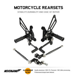 Racing Rear Set Foot Pegs Rearset Footrests Black Fit For