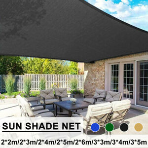 details about sun shade sail canopy rectangle sand uv block awning top cover backyard patio