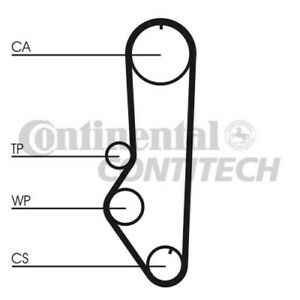CT690 CONTITECH TIMING BELT (Ford 1.4,1.6 CVH 80-90) NEW O