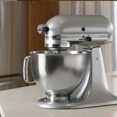 Kitchen Aid Silver Sink Cabinets Details About Kitchenaid Stand Mixer Tilt 5 Quart Rk150cs Cocoa Artisan Image Is Loading