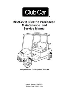 Club Car Golf Cart 2009-2011 Electric Precedent
