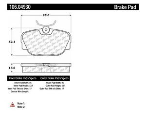 Posi-Quiet Extended Wear Disc Brake Pad w/Shims fits 1986