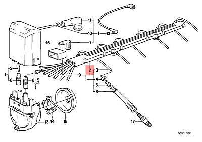Genuine BMW E12 E21 E28 E30 E34 Z1 Coupe Ignition Wiring