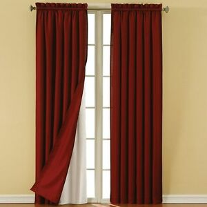 Eclipse Thermaliner Energy Saving Noise Reducing Blackout Curtain