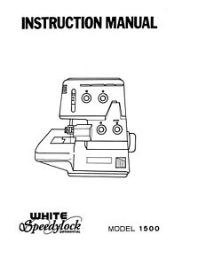 Singer 1500 White Speedy lock Sewing Machine/Embroidery