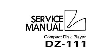 LUXMAN DZ-111 CD PLAYER SERVICE MANUAL INC SCHEMATIC
