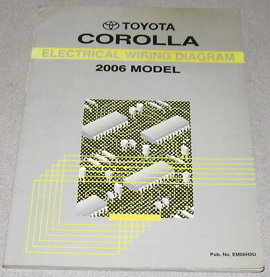2006 toyota corolla electrical wiring diagram service manual  ebay