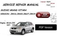 SUZUKI GRAND VITARA SERVICE MANUAL PDF Version | eBay
