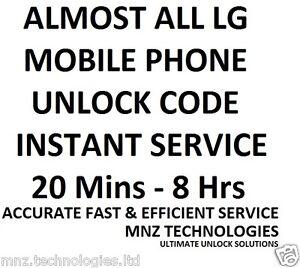 All LG Unlock Code Optimus L3 E400 E400f E610 E612 L5