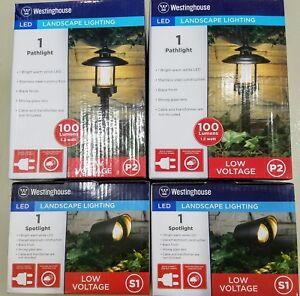 details about 4 westinghouse led landscape lighting spot pathway 100 lumen use only 1 2 watt