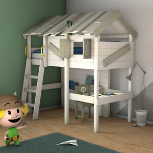 details sur wickey lit mezzanine crazy island lit enfant 90 x 200cm lit simple en bois