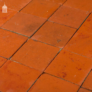 details about reclaimed 6x6 thick red quarry tiles 6 inch x 6 inch floor tiles