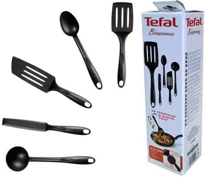 kitchen tool set backsplash for ideas tefal bienvenue 5 pieces high quality nylon cooking the contains