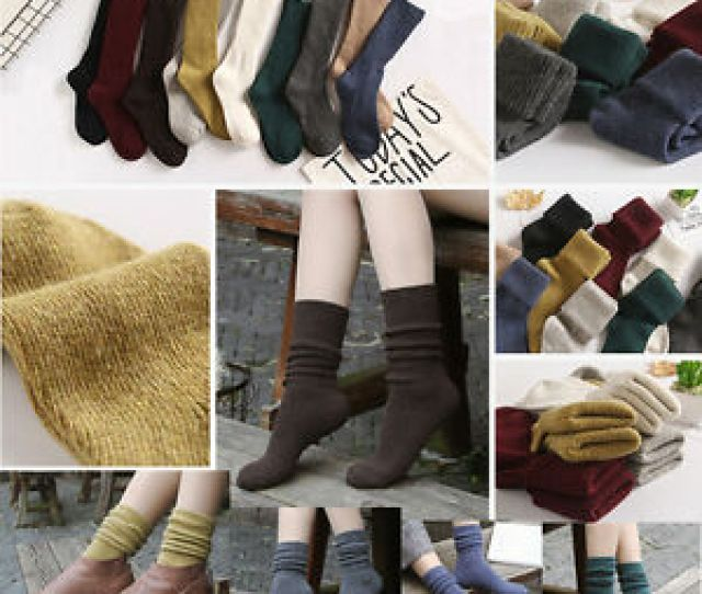 Image Is Loading Women Men Casual Warm Thick Cotton High Sports