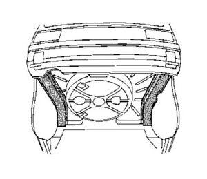 VW MK1 Rabbit Left (Passenger) Rear Outrigger Repair Panel