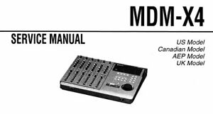 SONY MDM-X4 SERVICE MANUAL BOOK IN ENGLISH MD MULTI TRACK