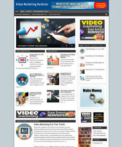VIDEO MARKETING BLOG & WEBSITE WITH AFFILIATE STORE + NEW DOMAIN AND HOSTING