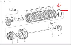 Ducati ST3 / GT1000 / 848SB/ 848EVO / 848SF clutch disc