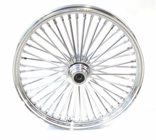 New 21 x 3.5 48 Fat King Spoke Front Wheel Chrome Rim