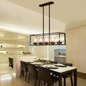 Large Chandelier Lighting Kitchen Lamp Black Ceiling Light Vintage Pendant Light Ebay