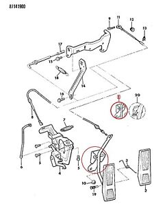 53003719 Accelerator Pedal Assembly Jeep CHEROKEE XJ