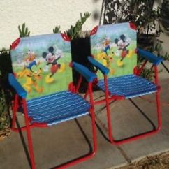 Mickey Mouse Clubhouse Chair Office Mat 48 X 60 Disney Pair Of Small Folding Patio Lawn Image Is Loading
