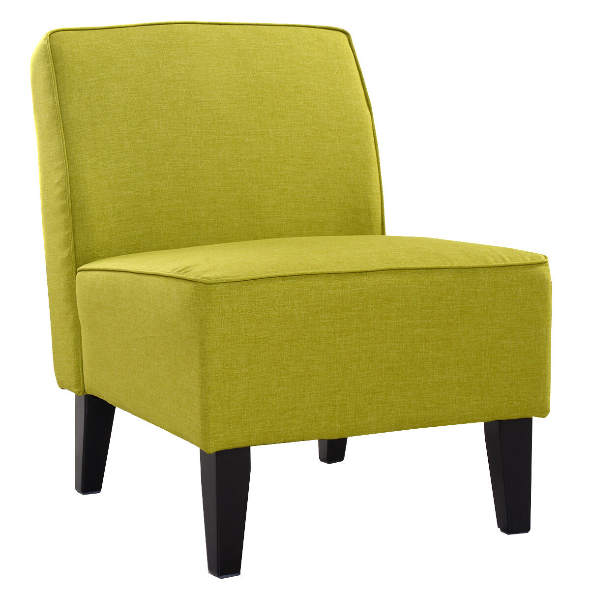 Accent Chairs Modern Deco Accent Chair Solid Armless Living Room Bedroom Office