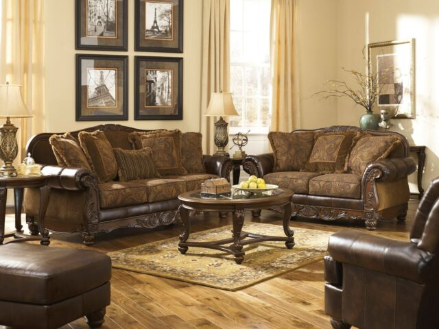 ashley furniture durablend sleeper sofa french provincial and loveseat fresco antique 6310038