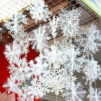90PCS 11cm White Snowflakes Decorations Christmas Tree