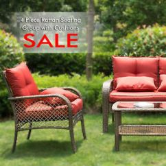 All Weather Garden Chairs Steel Chair In Nagpur 4 Piece Outdoor Patio Furniture Conversation Sets Image Is Loading