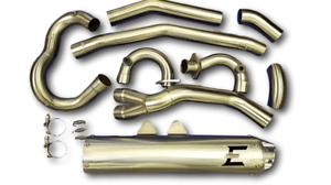 details zu empire industries brushed full exhaust system pipe kawasaki kfx 700 kfx700