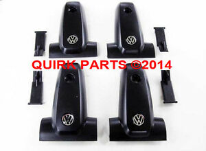 details about 00 04 vw volkswagen jetta golf replacement roof rack end caps set of 4 oem new