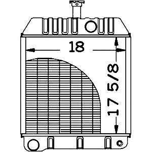 Radiator Fits Massey Ferguson 1130 130 50C 50D Models