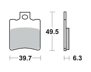 Bremsbeläge Bremsklötze TRW MCB674EC Vorne Yamaha Zest 50