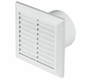 kitchen ventilator round islands white bathroom extractor fan 100mm 4 air vent grille image is loading 034