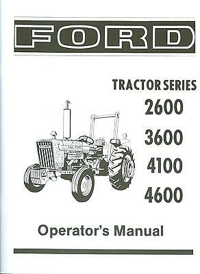 1975 76 77 78 79 80 81 FORD TRACTOR OWNER'S MANUAL- SERIES