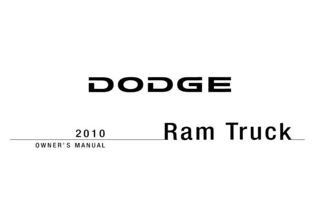 2010 Dodge Ram Truck (Gas ONLY) Owners Manual User Guide