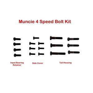 63-74 Muncie 4 Speed Trans. Black Bolt Kit/Set W/ Factory