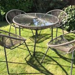 Patio String Chair Bunjo Canada Garden Furniture Set Suntime Table 4 Seat Image Is Loading Amp