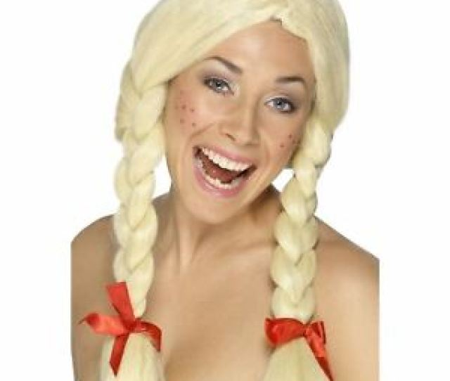 Image Is Loading Adult Ladies Blonde Schoolgirl Dutch Bavarian Plait Wig