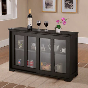 kitchen buffet outdoor shed storage sideboard home cupboard cabinet with sliding door window