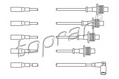 Ignition Cable Wire Kit 5967K9 Fits CITROEN Zx PEUGEOT 205